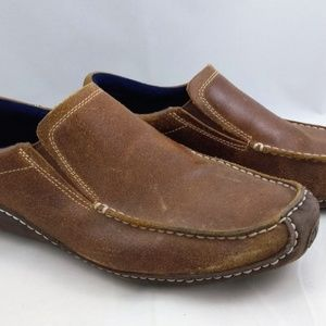 Cole Haan Mens Size 9 Slip On Loafers Shoes Brown